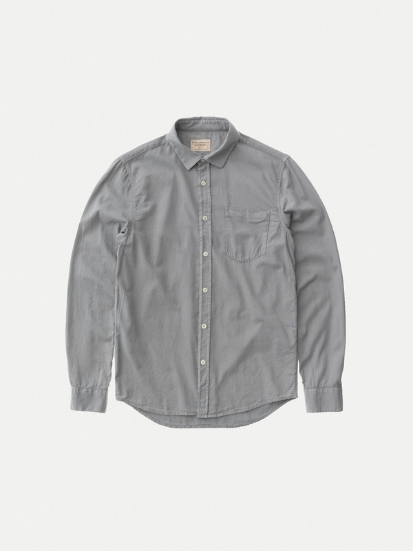 Henry Batiste Garment Dye Ash long-sleeved shirts