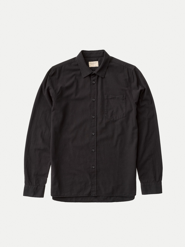 Henry Batiste Garment Dye Black long-sleeved shirts