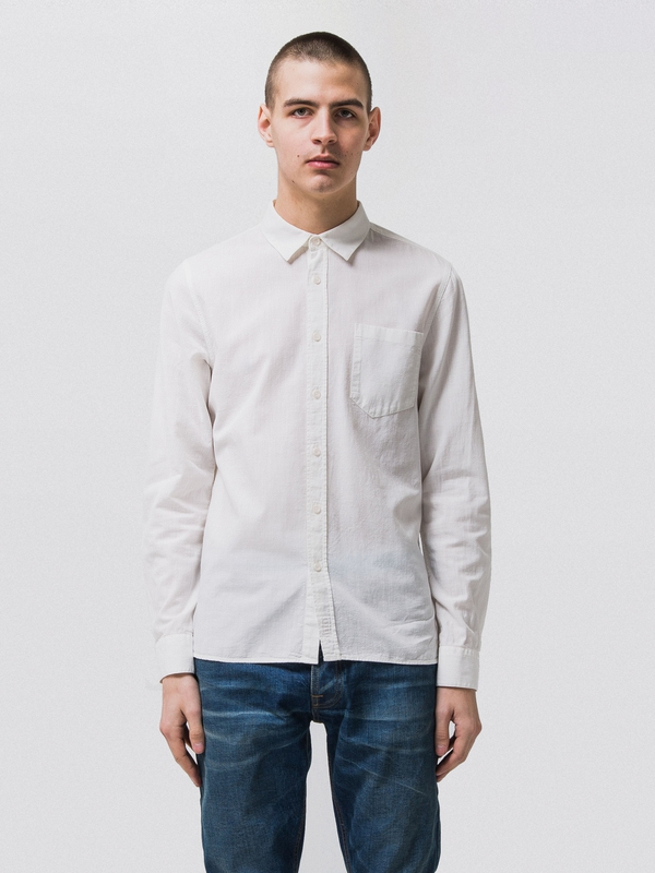 Henry Batiste Garment Dye Offwhite long-sleeved shirts