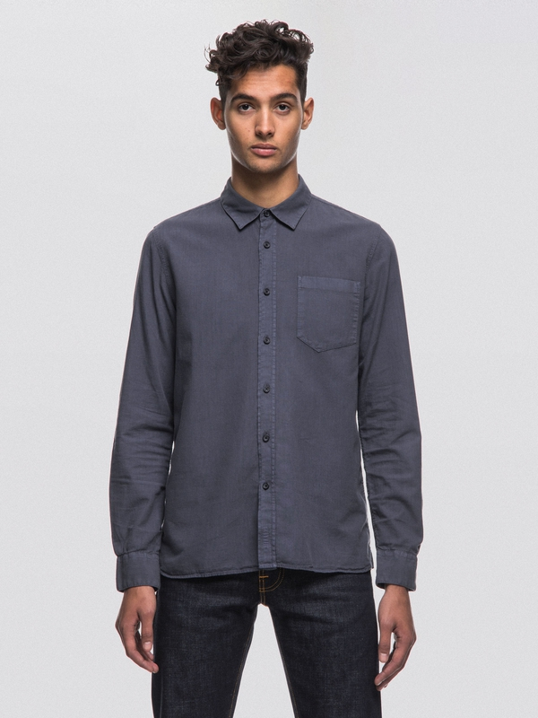 Henry Batiste Garment Dyed Royal Ash long-sleeved shirts