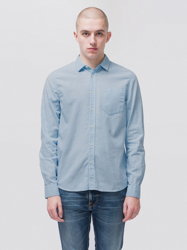 Henry Batiste Garment Dye Skyblue long-sleeved shirts