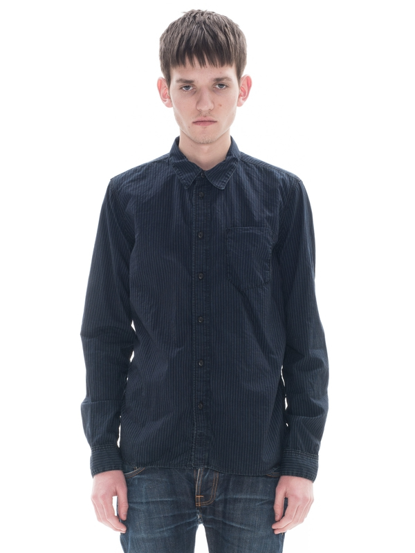 Henry Dark Striped Indigo shirts