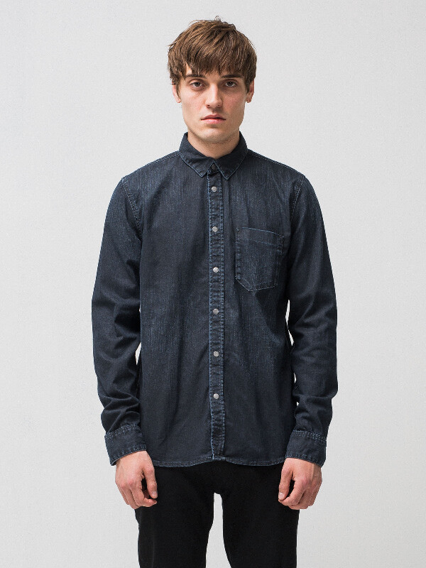 Henry Deep Blue Black Denim shirts