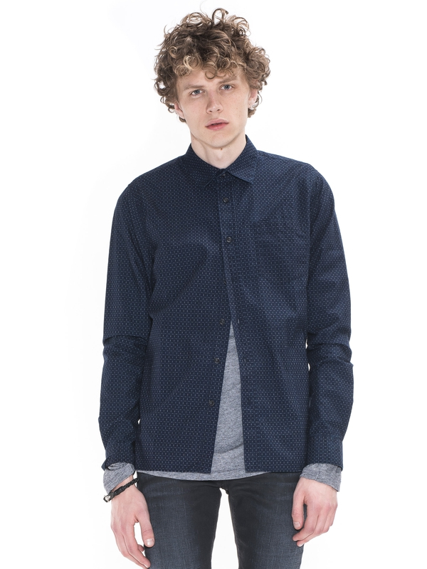 Henry Dots And Dashes Indigo shirts