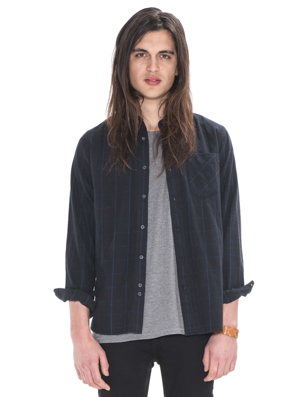 Henry Flanell Check Black shirts