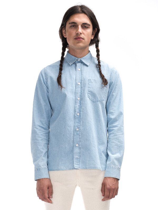 Henry Light Blue Indigo shirts