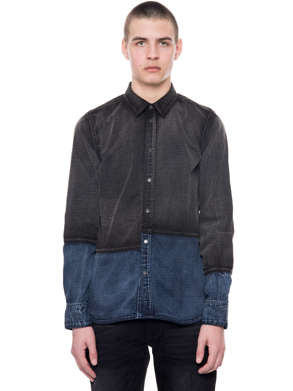 Henry Patched Black/Indigo shirts
