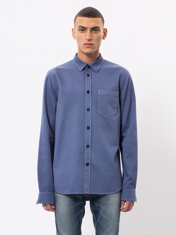 Henry Pigment Dyed Lilac long-sleeved shirts