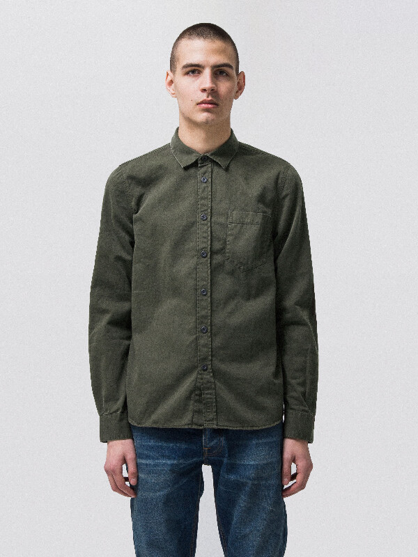 Henry Pigment Dyed Bunker long-sleeved shirts
