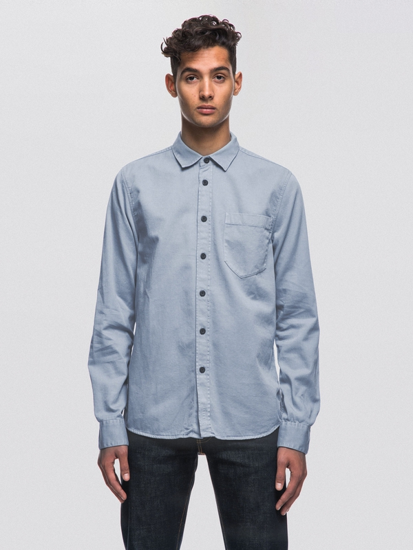 Henry Pigment Dyed Cloud long-sleeved shirts