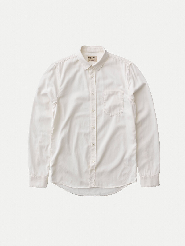 Henry Pigment Dyed Milk long-sleeved shirts