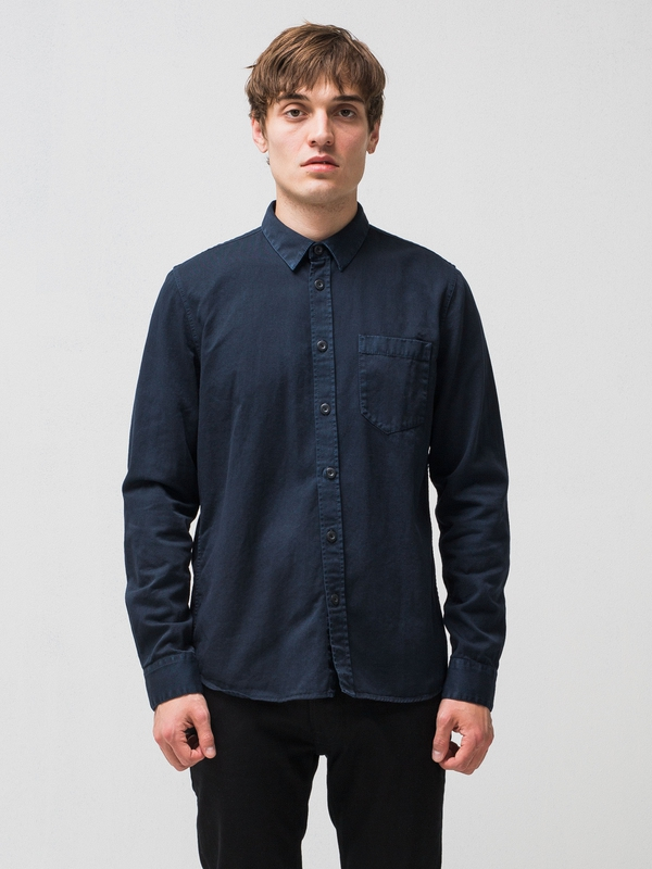 Henry Pigment Dyed Navy shirts