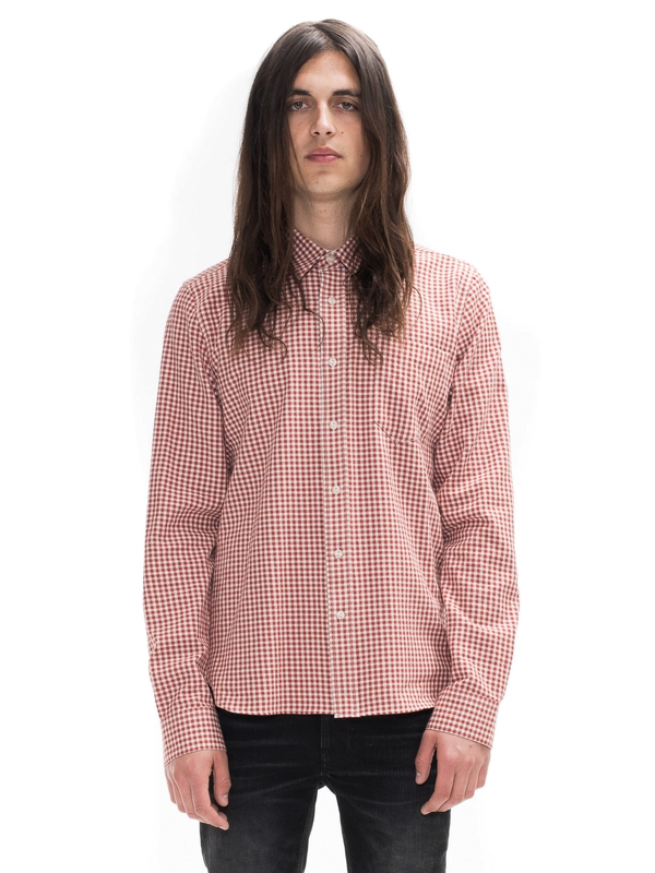 Henry Two Tone Twill Check Red shirts