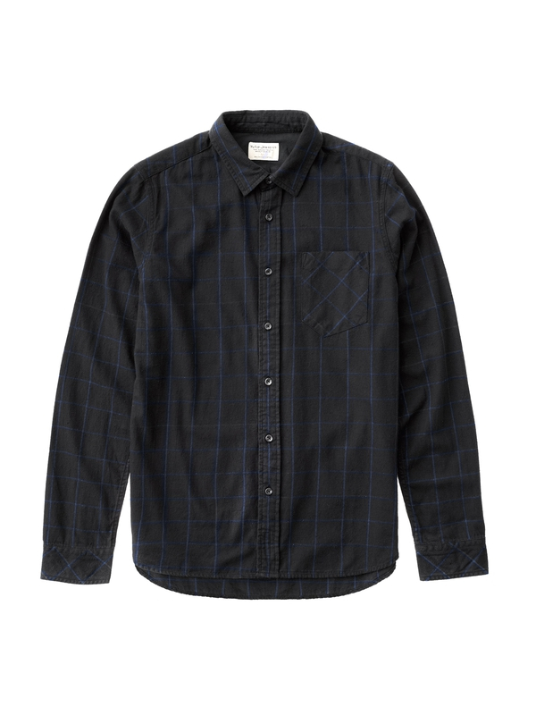 Henry Flanell Check Black