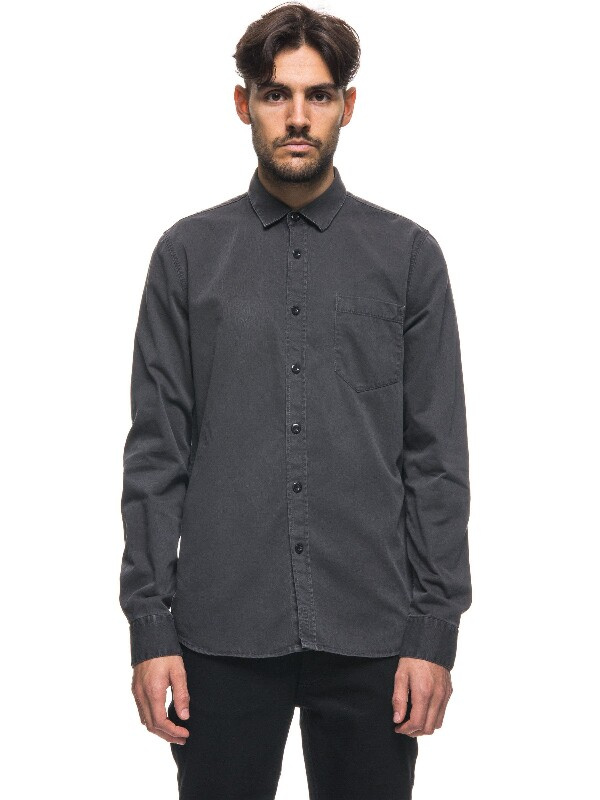 Henry Pigment Dyed Coal long-sleeved shirts