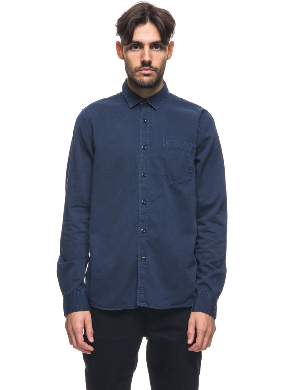 Henry Pigment Dyed Midnight long-sleeved shirts