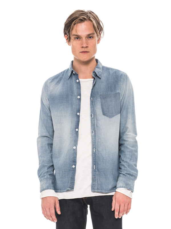 Henry Worn Chambray Denim shirts
