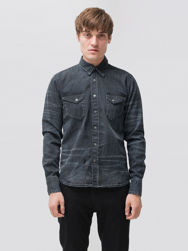 Herbert Stonemason Replica Denim long-sleeved shirts denim