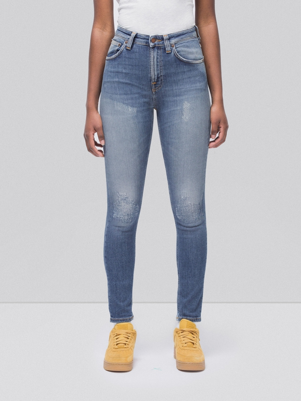 Hightop Tilde Mended prewashed jeans