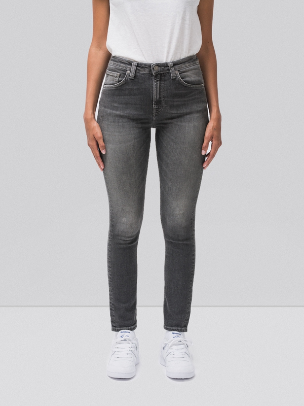 Hightop Tilde Shimmering Grey prewashed jeans