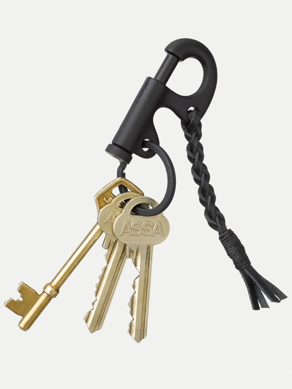 Huck Keyring Braided Black
