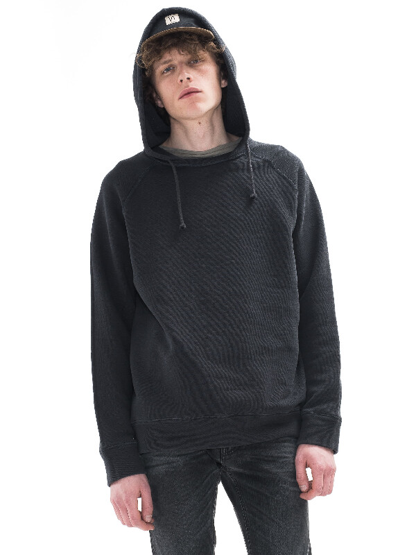 Hugo Overdyed Hoodie Antracite hooded sweaters