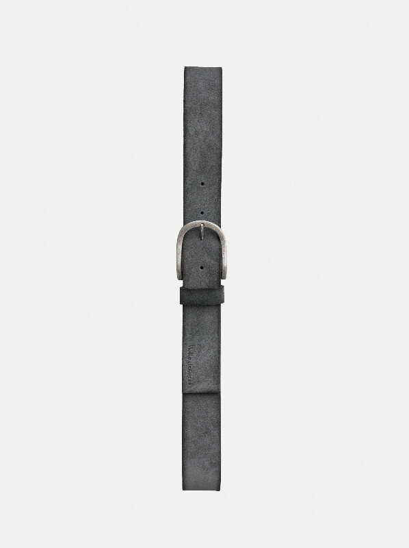 Ingesson Suede Belt Grey belts accessories