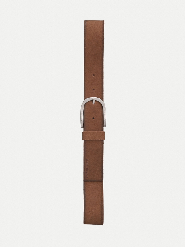 Ingesson Worn Suede Belt Brown belts accessories