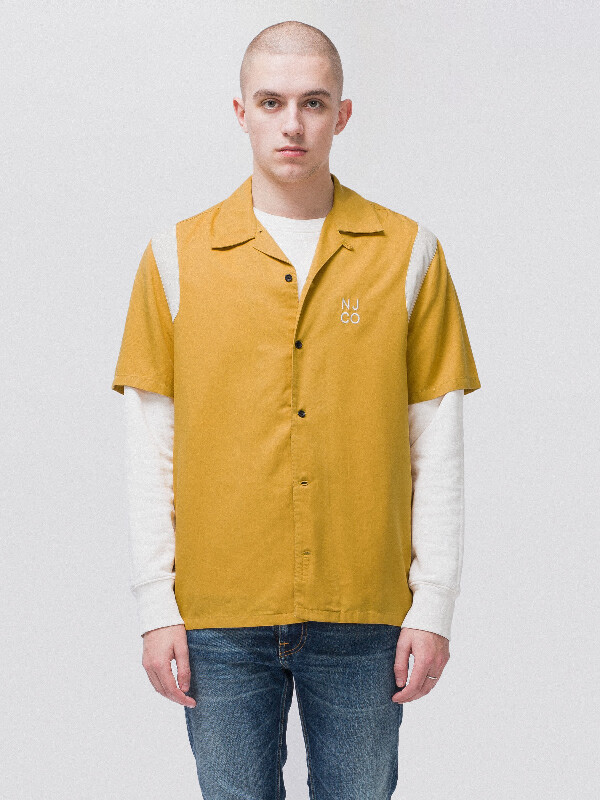 Jack Bowling Turmeric short-sleeved shirts