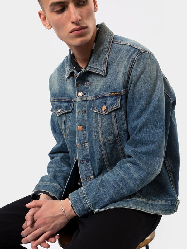 Jerry Dark Worn prewashed denim-jackets