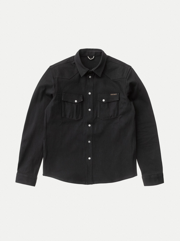 Jonas Dry Black Selvage shirts long-sleeved