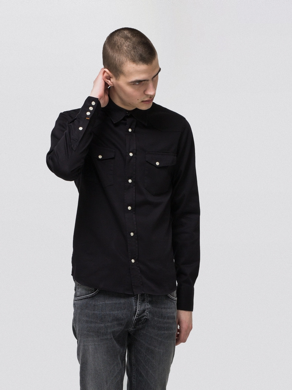 Jonis Black long-sleeved shirts