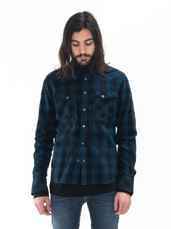 Jonis Graphic Check Black/Indigo shirts