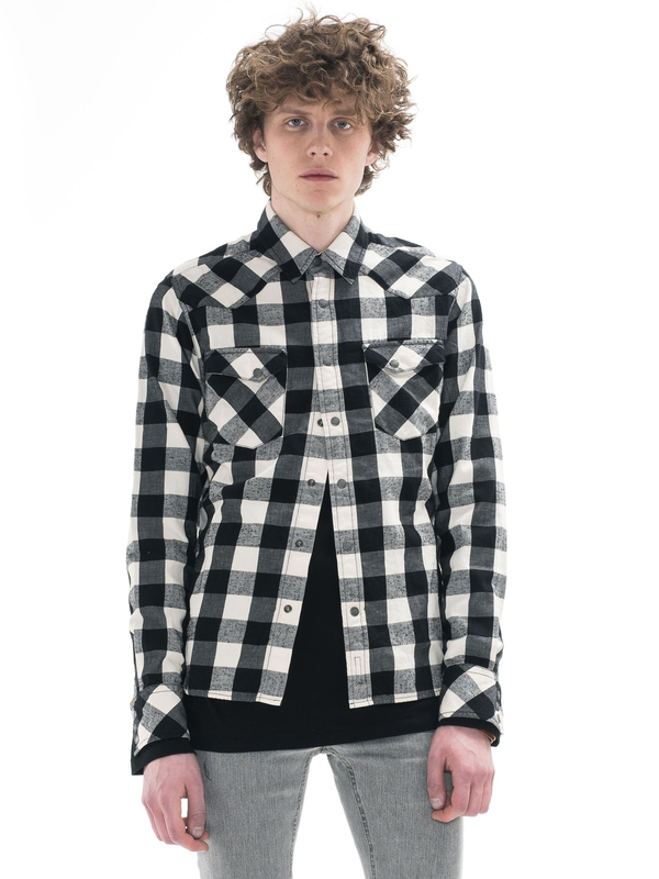 Jonis Graphic Check Offwhite/Black shirts