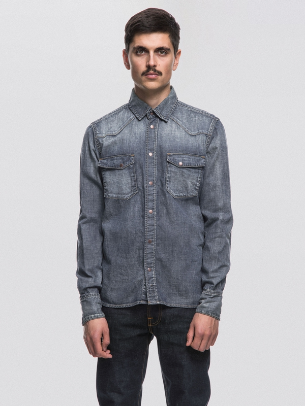 Jonis Shimmering Denim long-sleeved shirts