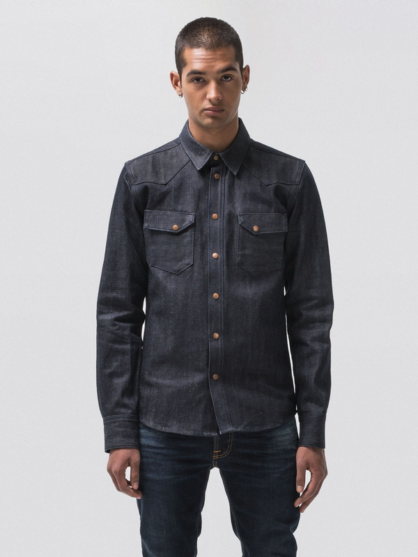 Jonis Dry Selvage Denim long-sleeved shirts selvage denim