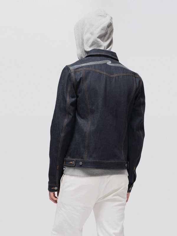 Kenny Dry Ecru Embo dry denim-jackets