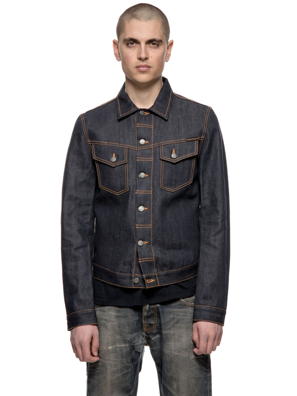 Kenny Dry Orange Selvage Denim dry denim-jackets selvage