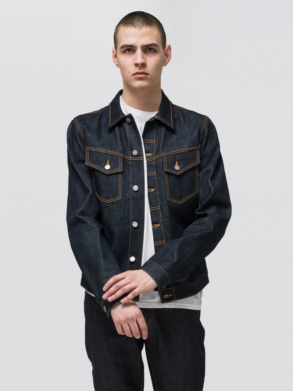 Kenny Dry Orange Selvage dry denim-jackets