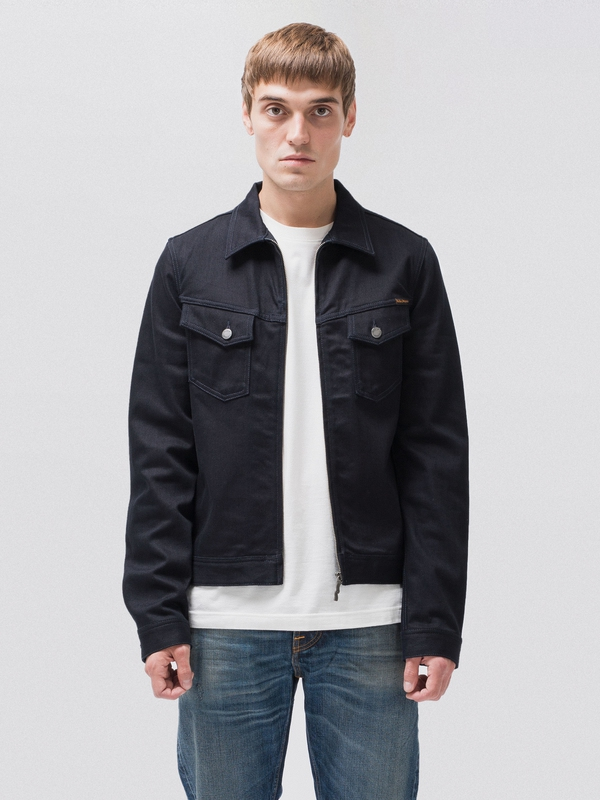 Kenny Zip Indigo Indigo dry denim-jackets