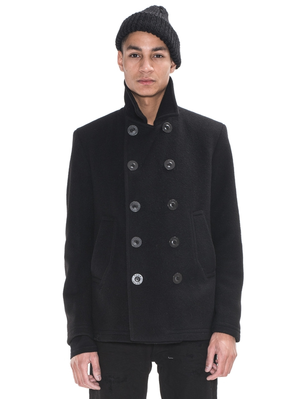 Kipp Peacoat Recycled Wool Black jackets