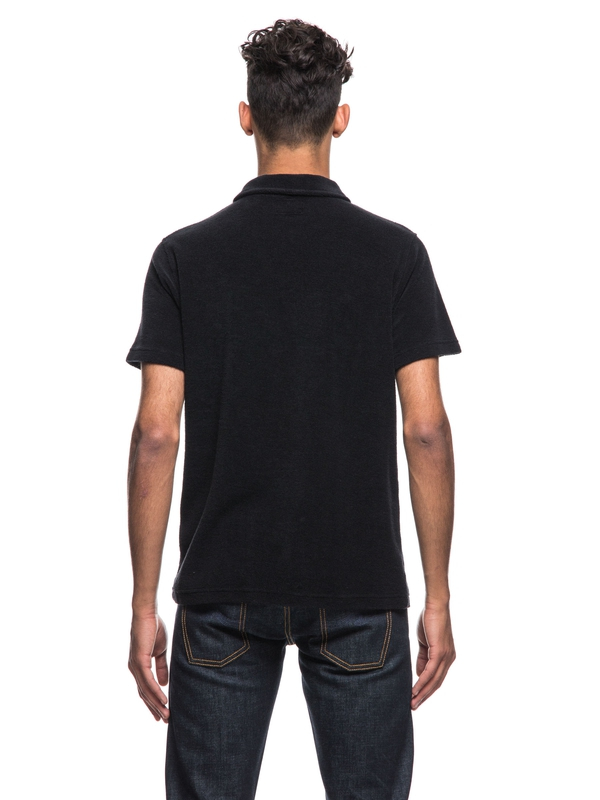 Kjell Terry Polo Shirt Black