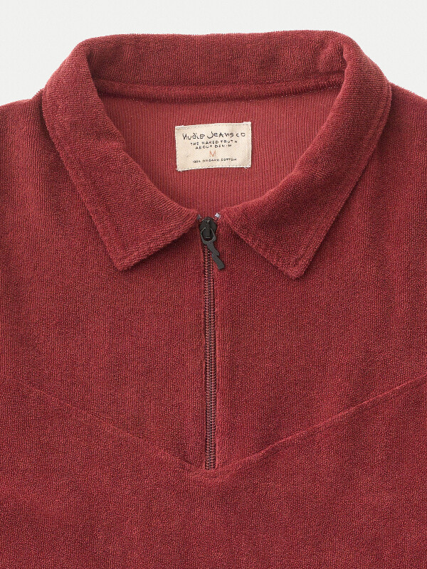 Kjell Terry Polo Shirt Mantle Red