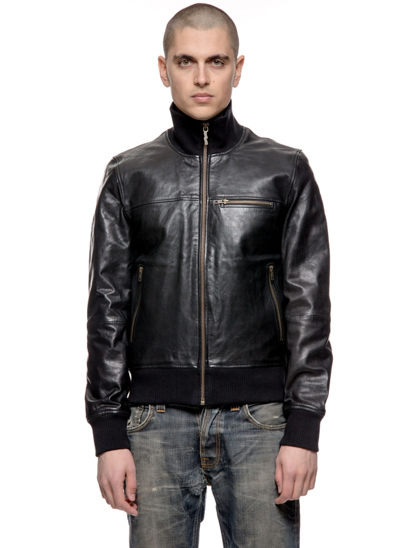 Kristoffer Veg Tan Leather Jkt Black jackets