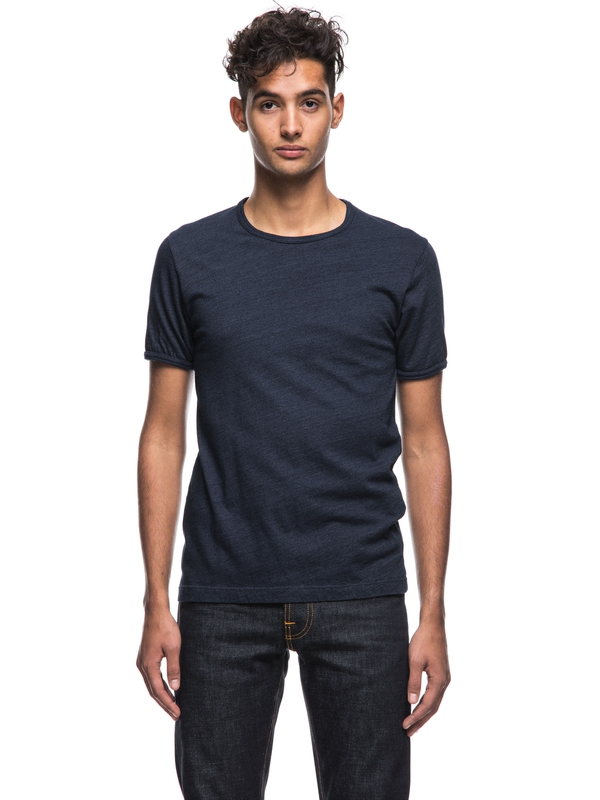 Kurt Dark Indigo short-sleeved tees printed