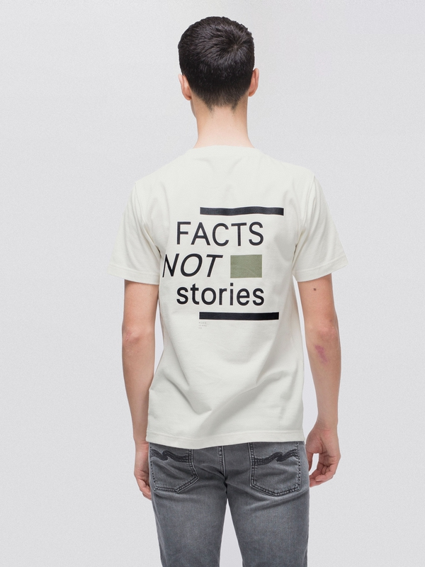 Kurt Facts Not Stories Offwhite short-sleeved tees printed