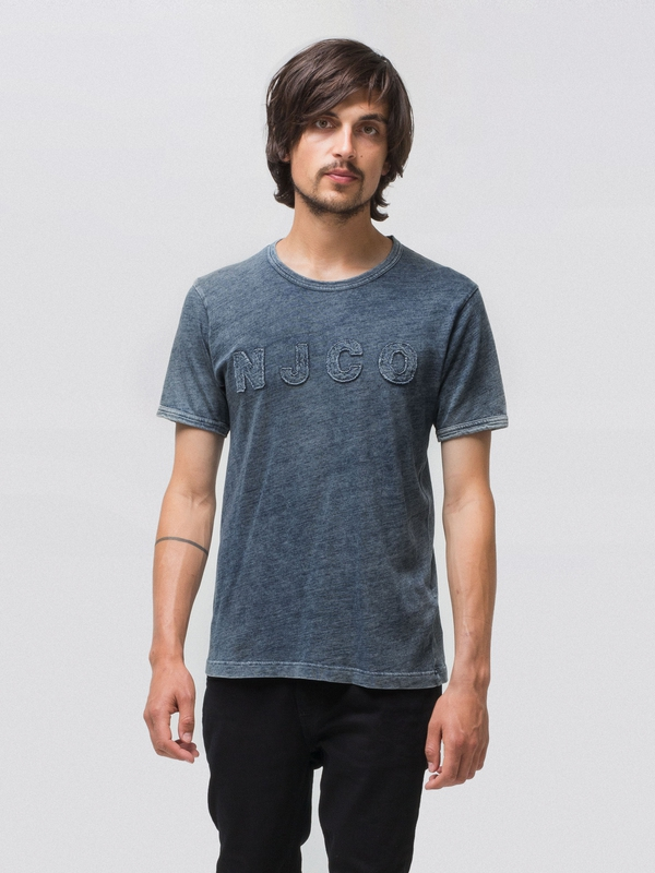 Kurt NJCO Patched indigo t-shirts tees
