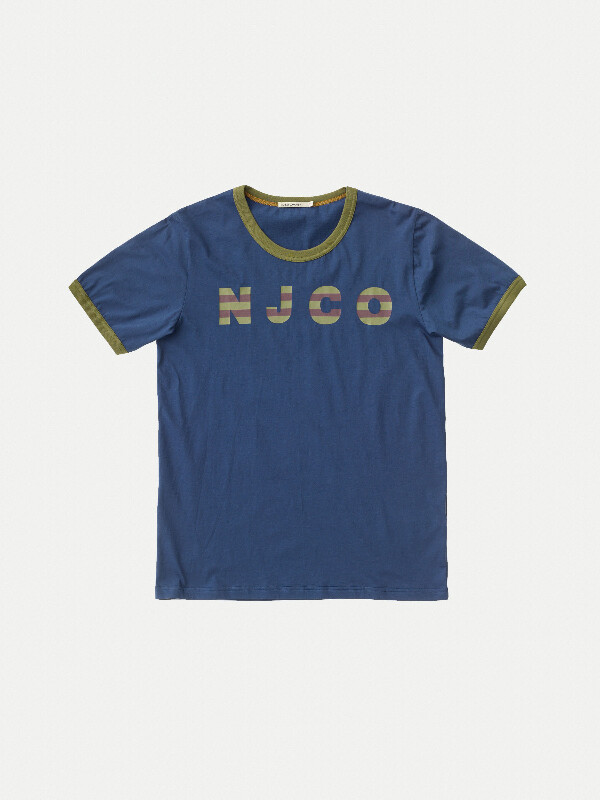 Kurt NJCO Stripes Oden Blue short-sleeved tees printed