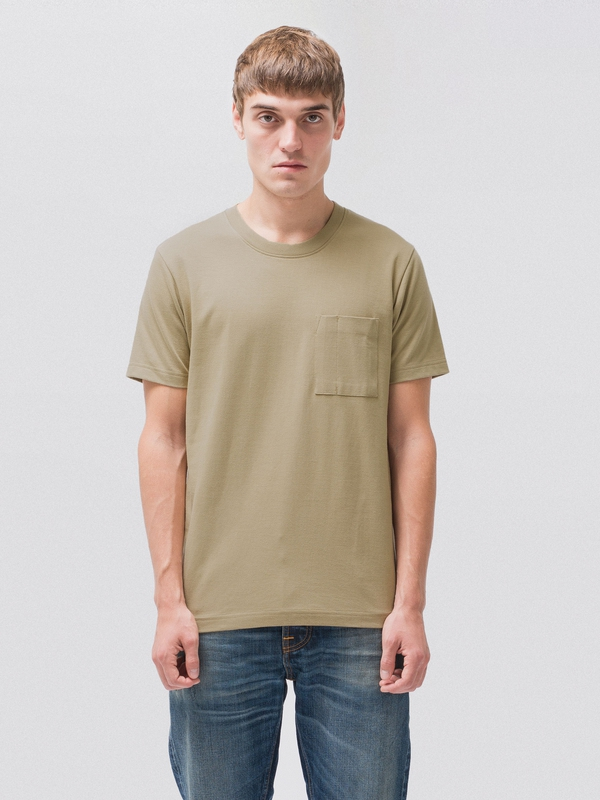 Kurt Worker Tee Beige short-sleeved tees solid