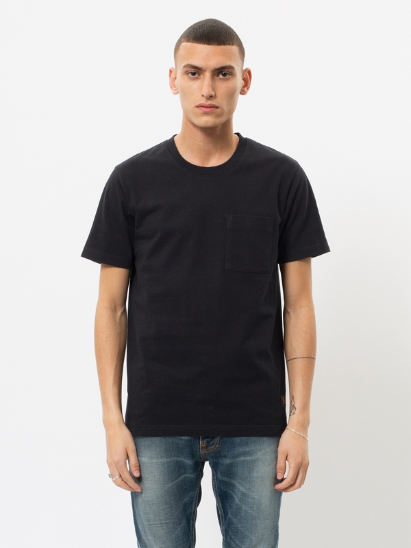 Kurt Worker Tee Black short-sleeved tees solid